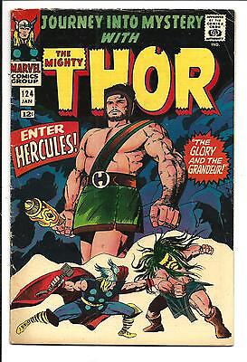 Journey Into Mystery # 124 (Kirby Thor, Jan 1966), Fn-