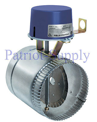 """Field Controls Gvd-8Pl 8"""" Automatic Vent Damper For 24V Gas Systems Less Wire"""
