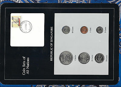 Coin Sets of All Nations Singapore UNC 1981-1984 1, 50 cents 1982 $1 1981