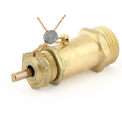 """Gold Tone 1/2""""PT Male Thread Safety Pressure Relief Valve for Air Compressor"""