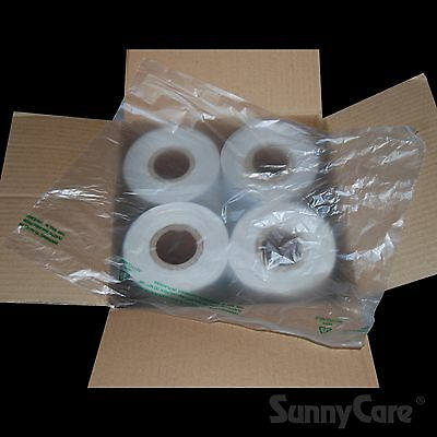 2440 pcs 4 Roll 11X19 HDPE Clear Produce Grocery Supermarket Bag
