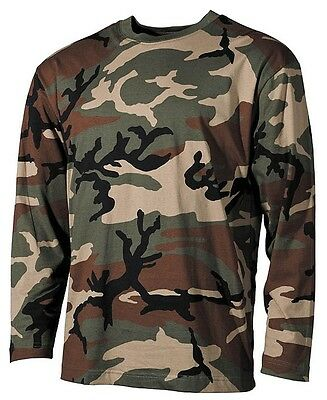 US long sleeve Shirt woodland German armed forces Jumper BW T-Shirt Army