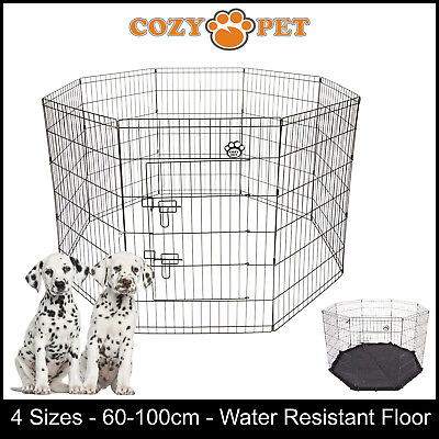 Cozy Pet Playpen Dog Rabbit Puppy Play Pen Cage Folding Run Fence crate Guinea