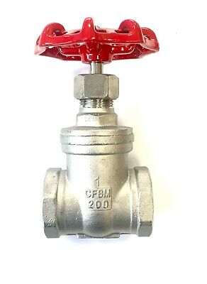 "Stainless Steel Gate Valve 1/2"" To 2"" BSP Threaded Ends Plumbing Pipe Fittings"
