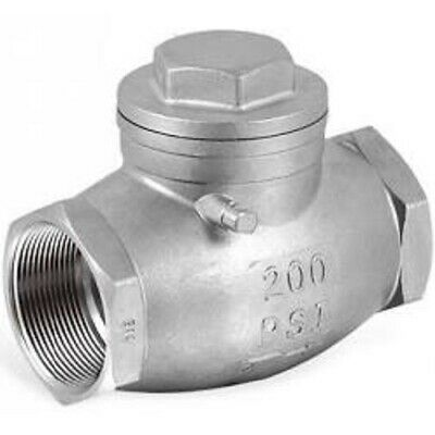"Stainless Swing Check Valve 1/2"" To 2"" BSP Threaded Ends Plumbing Pipe Fittings"