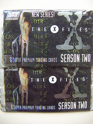 THE X FILES Season 2 36 Sealed Packs of Trading Cards by TOPPS
