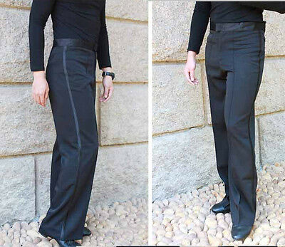 New Men's Boys Ballroom Latin Salsa Dance Pants Competition Dance Trousers
