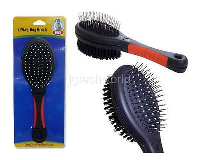 Double Sided Pet Brush Dog Cat Hair Grooming Comb Fur Shedding Bristle Cleaning