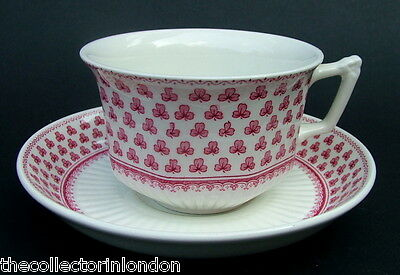 1970's Adams Red Victoria Pattern 1st QualityTea Cups & Saucers Look in VGC