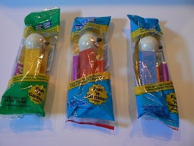 SET OF 3 PEZ JACK IN THE BOX DISPENSERS MIB