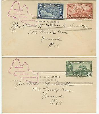 July 29 1940 100th Anniversary of Liberia covers
