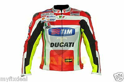Nickey Hayden Motorbike Motorcycle Motogp Ducati Corse Racing Leather Jacket