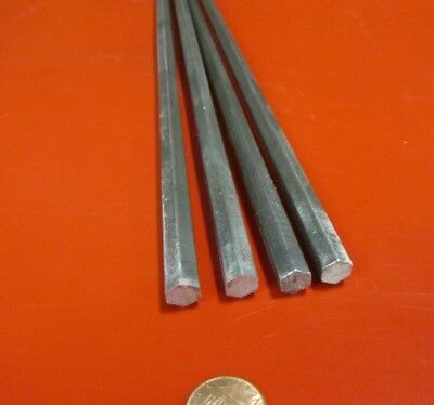 "1215 Carbon Steel Hex Rod 3/8"" Hex x 3 Foot Length, 4 Units"