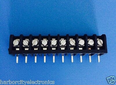 3PCR-10 AUGAT RDI CONN BARRIER STRIP 10 POSITION 6.35mm SCREW RA CABLE MOUNT 10A