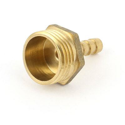 6.5mm Pipe Inner Dia 20mm 1/2BSP Male Hose Barb Fitting Air Liquid Water Coupler