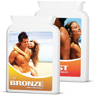 MyTan Bronze & MyTan Boost Ultimate Pack Sunless Tanning Pills and Tan Tablets