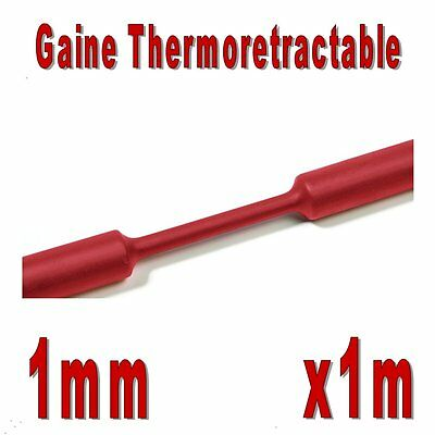 Gaine Thermo Rétractable Rouge 2:1 - Diam. 1 mm - 1m