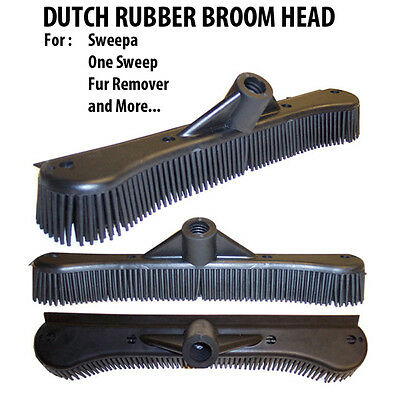 "Dutch Rubber Broom 12"" Head- 12 Inches Rubber Broom Head Only Fits Any Handle!"