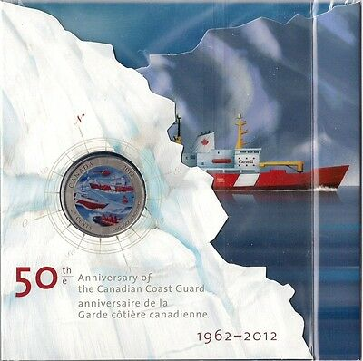 2012 /'Canadian Coast Guard/' Colorized 25-Cent Coin 13021