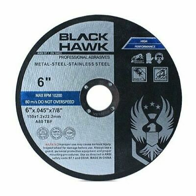 "50 Pack 6""x.045""x7/8"" Cut off Wheel - Metal & Stainless Steel Cutting Discs"