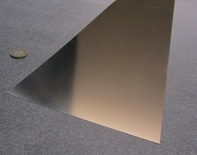 "18-8 Stainless Steel Sheet, Full Hard, .0015"" x 6.0"" x 50"", 1 Piece"