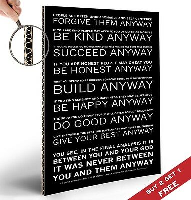 Mother Teresa Quote 12 X 18 Wall Quotes Canvas Banner Spread