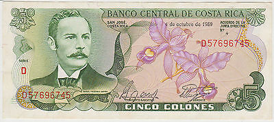 (WN-127) 1989 Costa Rica 5 colonies bank note UNC (A)