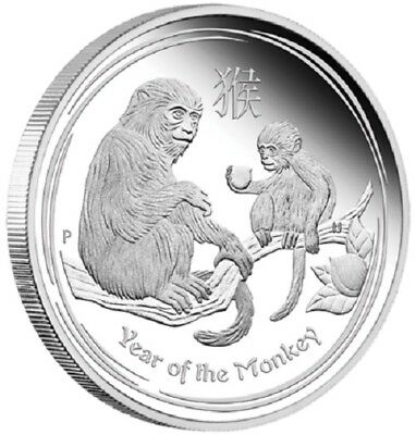 $1 Australian Lunar Series-Year of the Monkey-1 oz Silver Proof Coin-Perth Mint