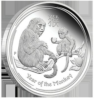 50c Australian Lunar Series-Year of Monkey-1/2 oz Silver Proof Coin Perth Mint