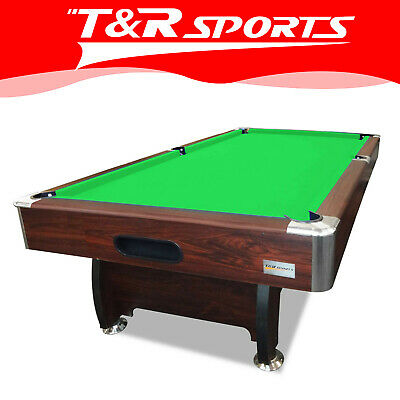 8FT Walnut Green Table for Pool Snooker Billiard Free Accessories Pack