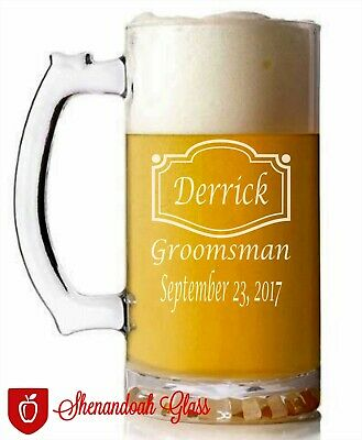 Groomsman Beer Mug Gifts. Personalized-Engraved-Wedding