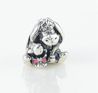 EEYORE DONKEY Sterling Silver Solid European Charm Bead for Bracelet