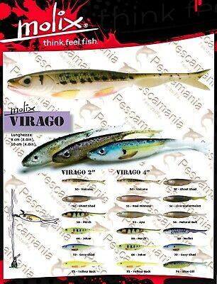 """Artificiale spinning Molix Valley Hill Dippi/'n Fish 3 /"""" cm 7.5"""