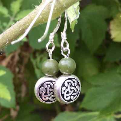 Celtic Connemara marble earrings. Quality beads Irish jewellery gifts gemstones