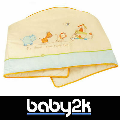 *Sale* Dormouse Animal Ark Blue Yellow Cot Bed Bumper Baby Nursery Cot Bed BN