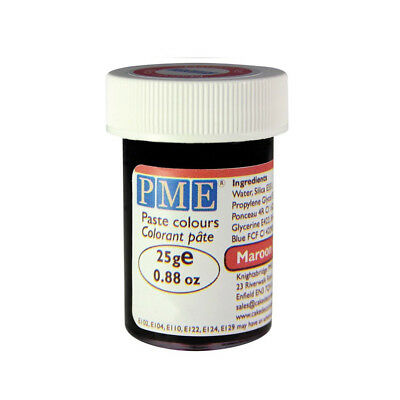 PME 25g Maroon Red Food Fondant Icing Colouring Paste Gel Sugarcraft Cake Décor