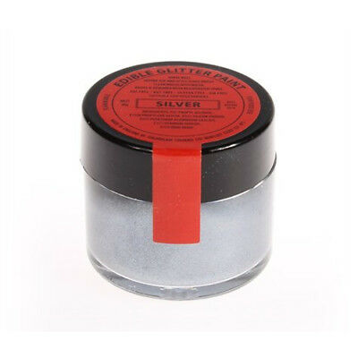 Sugarflair Edible Giltter Paint Colour Colouring For Cake Decorating - SILVER