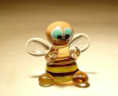 "Blown Glass Figurine ""Murano"" Art Insect Small Striped BEE"