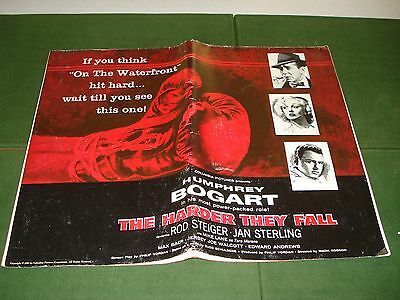 1956 Movie Press Kit- The Harder They Fall, Starring Humphrey Bogart, Nice Item