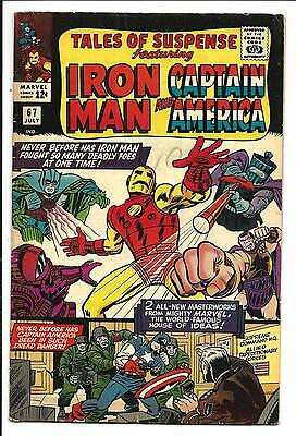 Tales Of Suspense # 67 (Captain America & Iron Man, July 1965), Fn