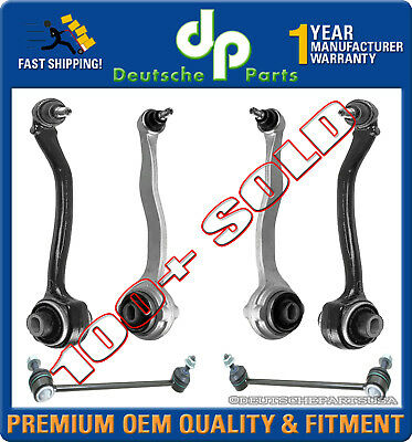 Mercedes W203 W209 Front Control Arm Arms Ball Joint Sway Bar Tie Rod KIT 6 pcs