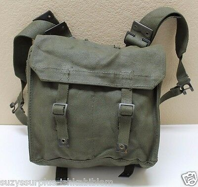 P37 OD Green Canvas Small Pack with L straps used set each E6288