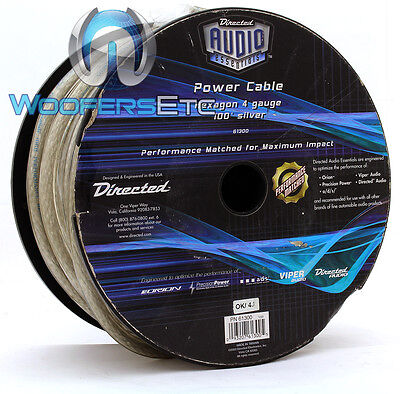 Directed Audio 61300 4-Awg 100 Feet Silver Hexagon Power Cable Orion Viper Ppi