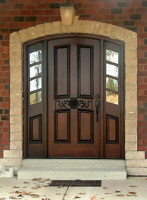 "Hand-Crafted, Solid Mahogany Wood Entry Doors by Monarch Custom Doors 61"" x 96"""