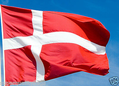 NEW 3x5 ft DENMARK DANISH FLAG WITH BRASS GROMMETS