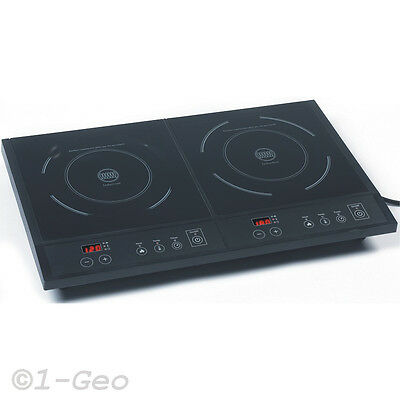 INDUCTION Double Stove-Top Electric Hob Mobile Hotplate 1600W + 1800W