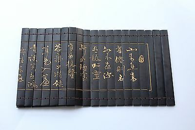 "Chinese Classical Bamboo Scroll Slips famous  poetry of "" Loushiming"" 80X20CM"