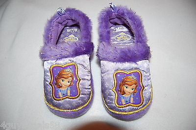 Toddler Girls Slippers DISNEY SOFIA THE FIRST Purple S 5-6 M 7-8 L 9-10 XL 11-12