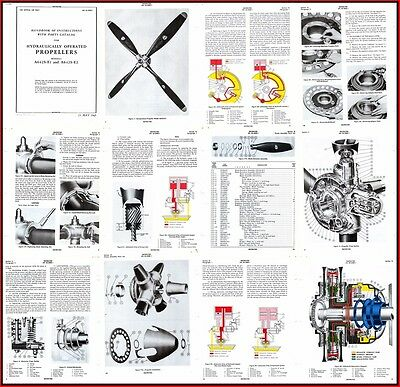 AEROPRODUCTS Propellor Manuals x 5 Constant Speed & Hydraulic Props & Turbo Prop