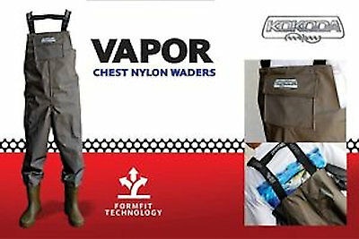 New Kokoda Vapor Chest Nylon Waders, Mens Fishing Waders, Water Tight,